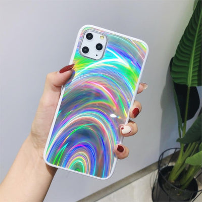 Shiny Rainbow Mirror iPhone Cases For iPhone XS MAX / White - Equally Younique LGBTQ Shop