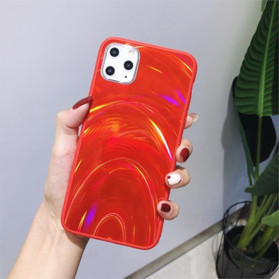 Shiny Rainbow Mirror iPhone Cases For iPhone XR / Red - Equally Younique LGBTQ Shop