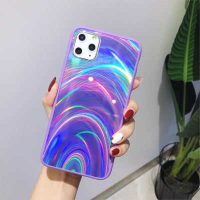 Shiny Rainbow Mirror iPhone Cases For iPhone XS MAX / Purple - Equally Younique LGBTQ Shop