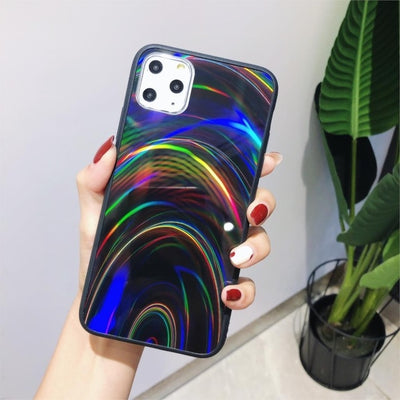 Shiny Rainbow Mirror iPhone Cases For iPhone XS MAX / Black - Equally Younique LGBTQ Shop