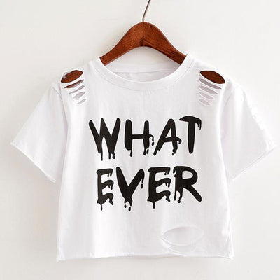 """whatever"" Crop Top  shirt White - Equally Younique LGBTQ Shop"