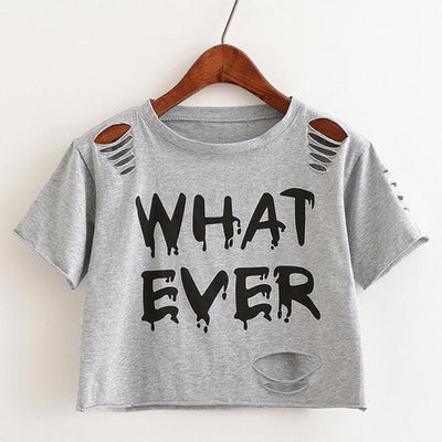 """whatever"" Crop Top  shirt Grey - Equally Younique LGBTQ Shop"