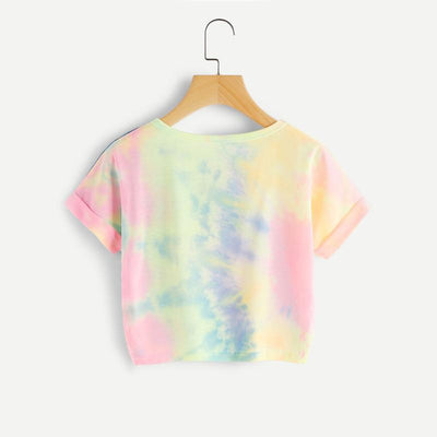 """Happy"" Rainbow Pastel Tie Dye T-Shirt  - Equally Younique LGBTQ Shop"