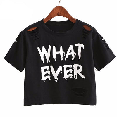 """whatever"" Crop Top  shirt  - Equally Younique LGBTQ Shop"