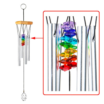 Handmade Rainbow Chakra Wind Chime  - Equally Younique LGBTQ Shop