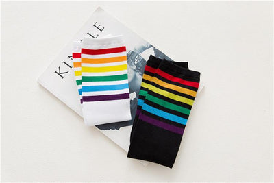 Rainbow Knee High Socks  - Equally Younique LGBTQ Shop