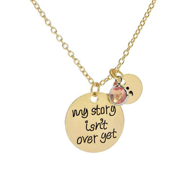 """My Story Isn't Over Yet"" Pendant Necklace Gold - Equally Younique LGBTQ Shop"