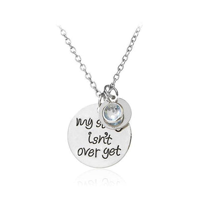 """My Story Isn't Over Yet"" Pendant Necklace Silver - Equally Younique LGBTQ Shop"