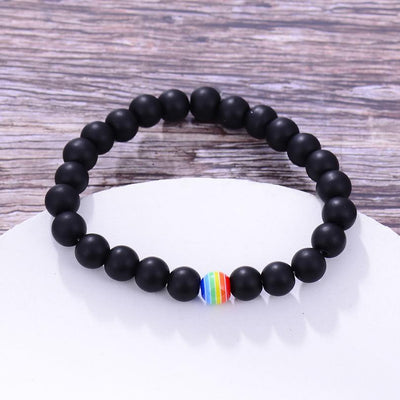 Pride Rainbow Beaded Bracelet  - Equally Younique LGBTQ Shop