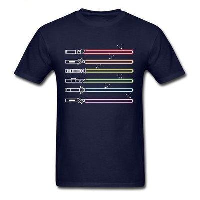 Rainbow Light Saber T-Shirt Navy / XS - Equally Younique LGBTQ Shop