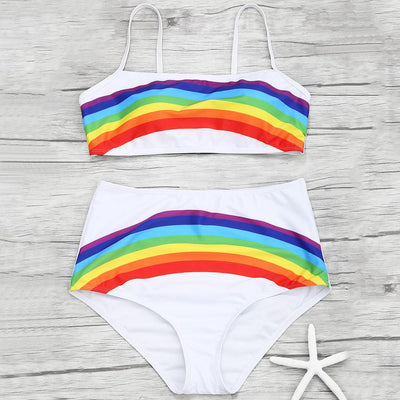 High Waist Rainbow Bikini Set  - Equally Younique LGBTQ Shop