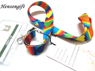 Rainbow Hearts lgbt Lanyards  - Equally Younique LGBTQ Shop
