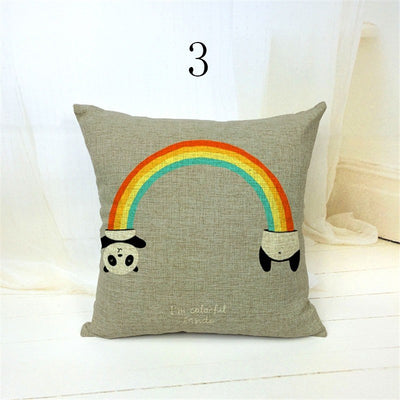 Rainbow Cotton Linen Pillow 3 - Equally Younique LGBTQ Shop