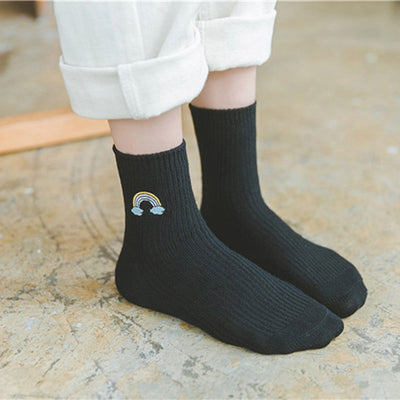 Embroidery Rainbow Socks  - Equally Younique LGBTQ Shop