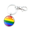 LGBTQ+ Glass Dome Metal Key Chain  - Equally Younique LGBTQ Shop