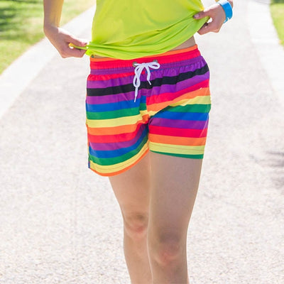 Rainbow Beach Shorts Women's / L - Equally Younique LGBTQ Shop