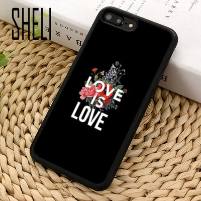 """Love is Love"" Phone Case for iPhone 4 4S - Equally Younique LGBTQ Shop"