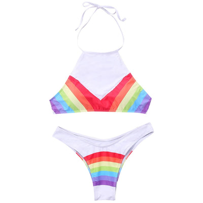 High Neck Rainbow Bikini  - Equally Younique LGBTQ Shop