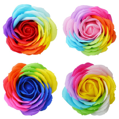 9 Piece Rainbow Rose Bath Soaps  - Equally Younique LGBTQ Shop