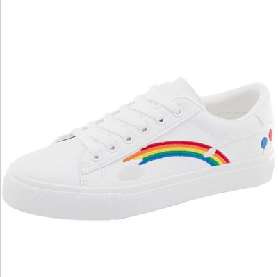 All White Magic Patch Rainbow Shoes White / 36 - Equally Younique LGBTQ Shop