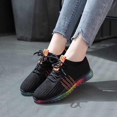 Rainbow Sole Breathable Mesh Walking Shoes  - Equally Younique LGBTQ Shop