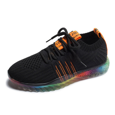 Rainbow Sole Breathable Mesh Walking Shoes Black / 5 - Equally Younique LGBTQ Shop