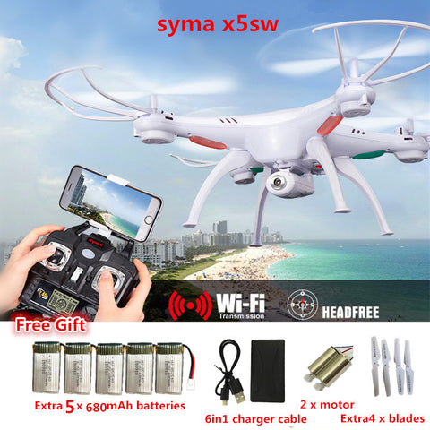 Drone Syma X5SW FPV RC Quadcopter Drone with Camera 2.4G