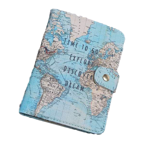 Flamingo Map Passport Covers Leather