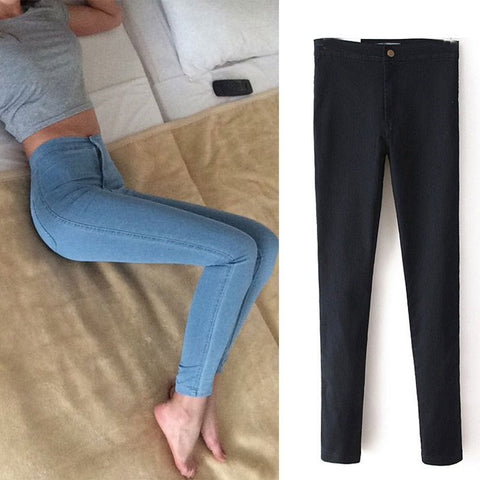 Slim Jeans - High Waist Jeans Woman