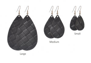 Leather - Black Basket Weave
