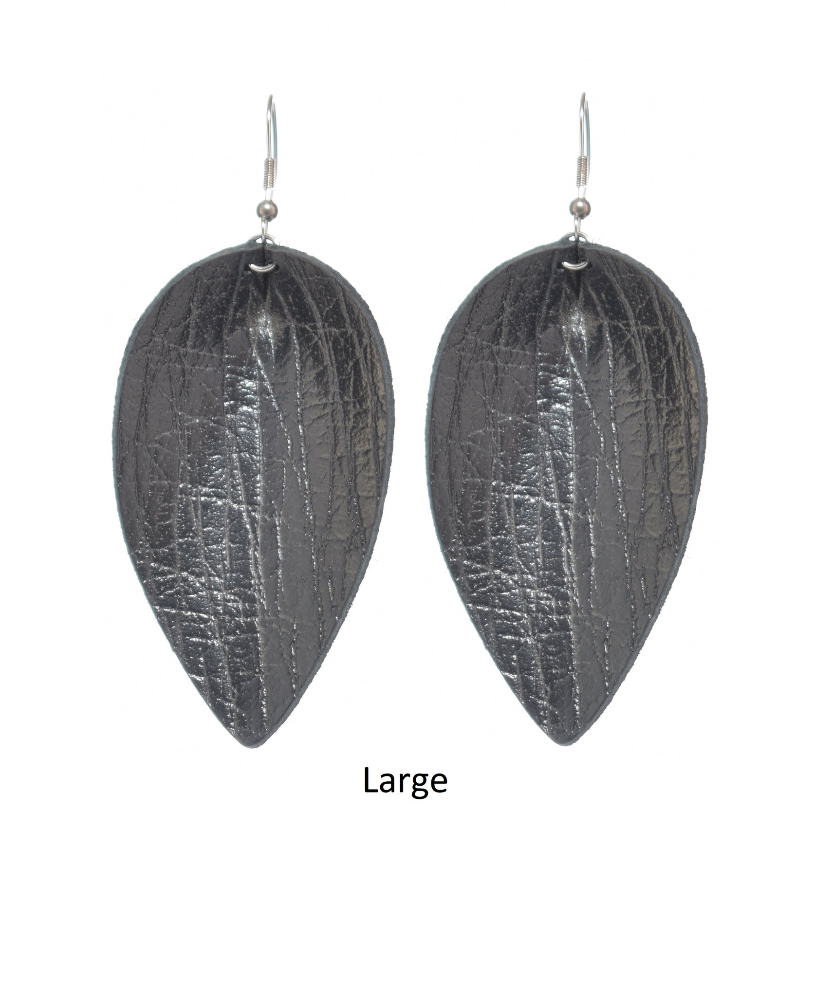 Leaf -  Leather, Black Crackle