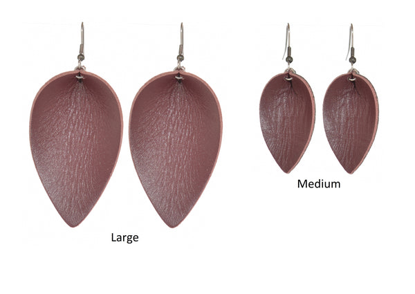 Leaf - Leather, Mahogany