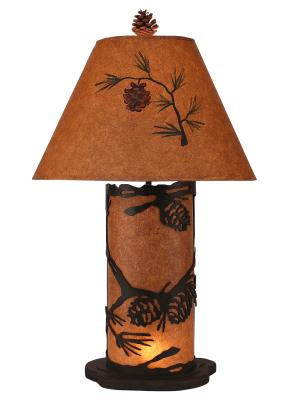 Kodiak Small Pine Cone Table Lamp w/ Night Light