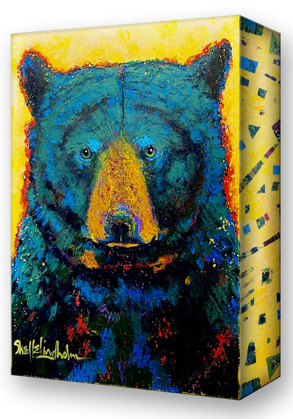 Aurora Black Bear:  Metal 18x26 Inches