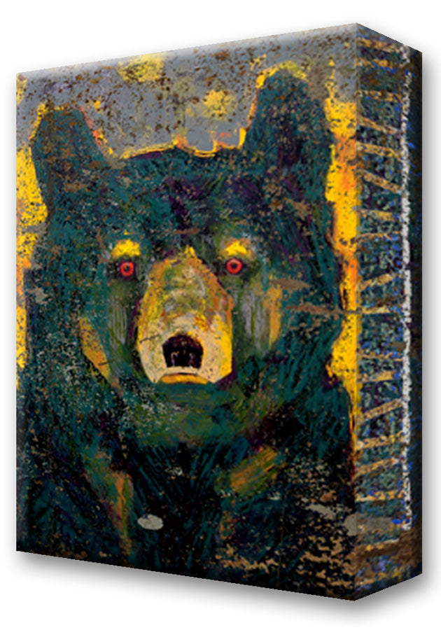 Black Bear, Firefly:  Metal 18x26 Inches