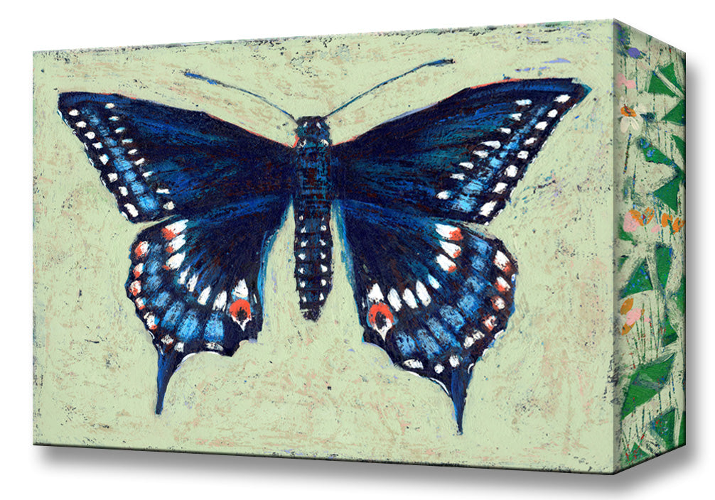 Black Swallowtail Butterfly:  Metal 18x26 Inches