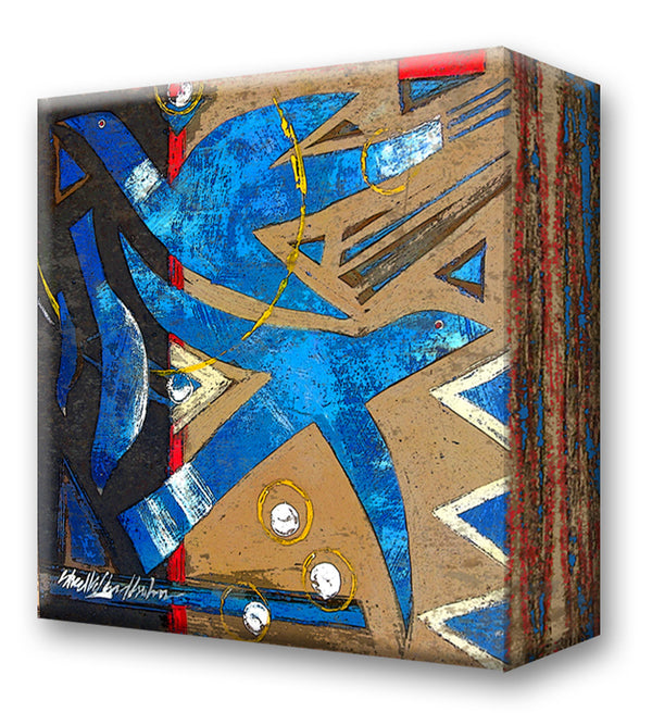 Blue Birds:  Metal 18x18 Inches