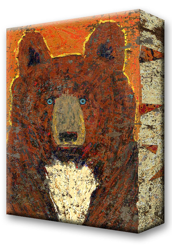 Brown Bear, Scout:  Metal 18x26 Inches