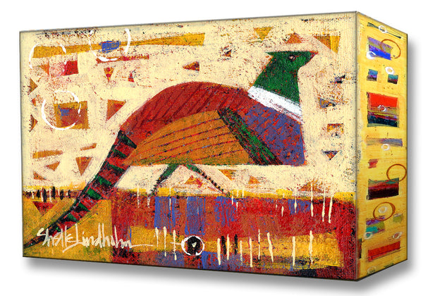 Daydreamer Pheasant:  Metal 18x26 Inches