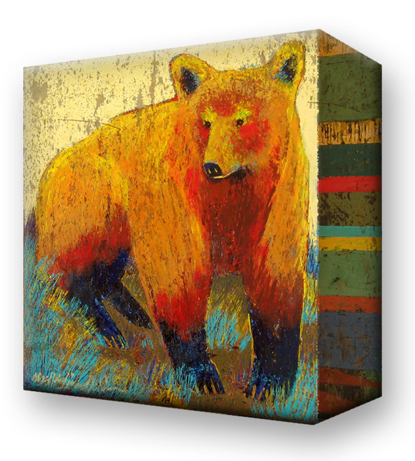Golden Bear-Little Miss Sunshine:  Metal 18x18 Inches