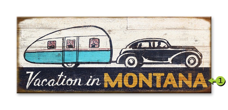"Customizable Vintage Sign ""Vacation In"""