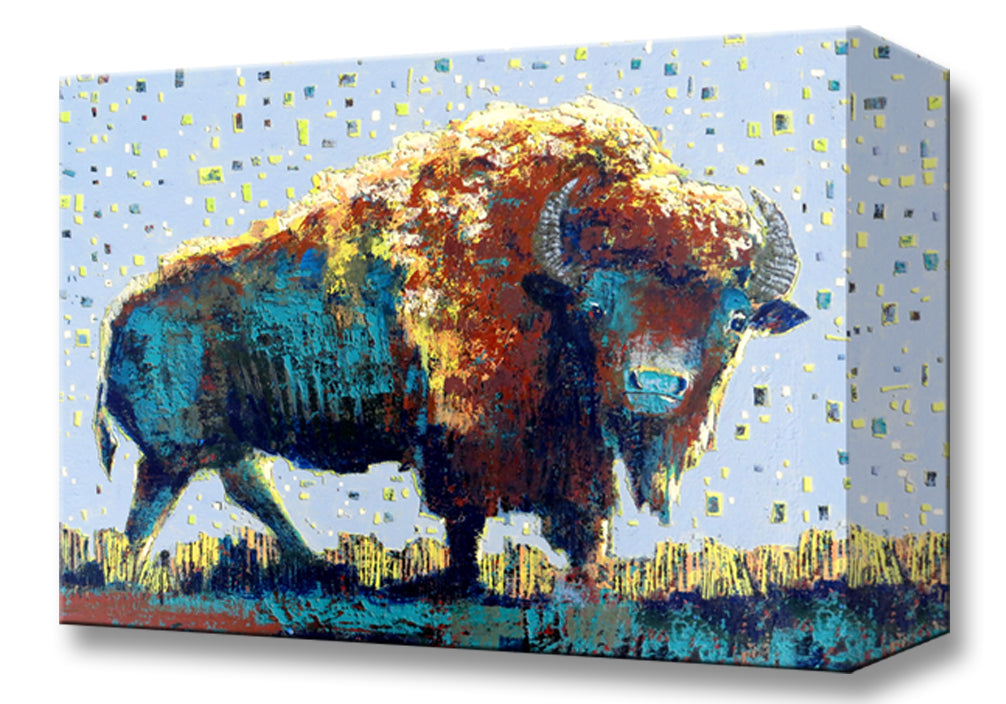 Midnight Buffalo:  Metal 18x26 Inches