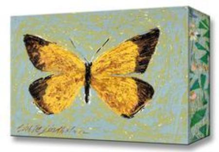 Orange Sulphur Butterfly:  Metal 18x26 Inches