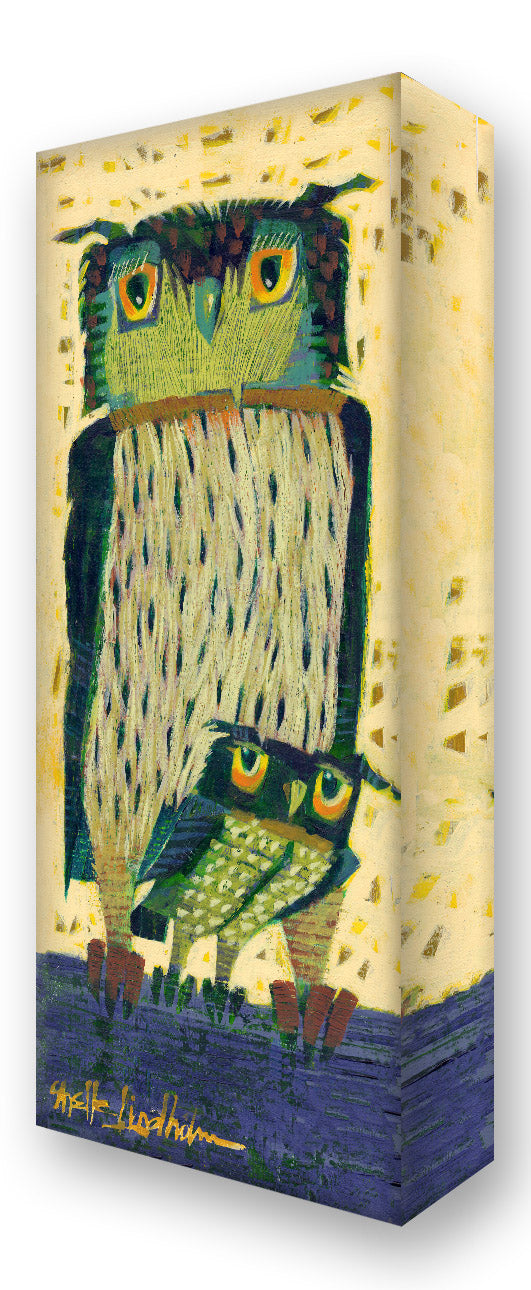 Peek-a-boo Owls:  Metal 42x16.5 Inches