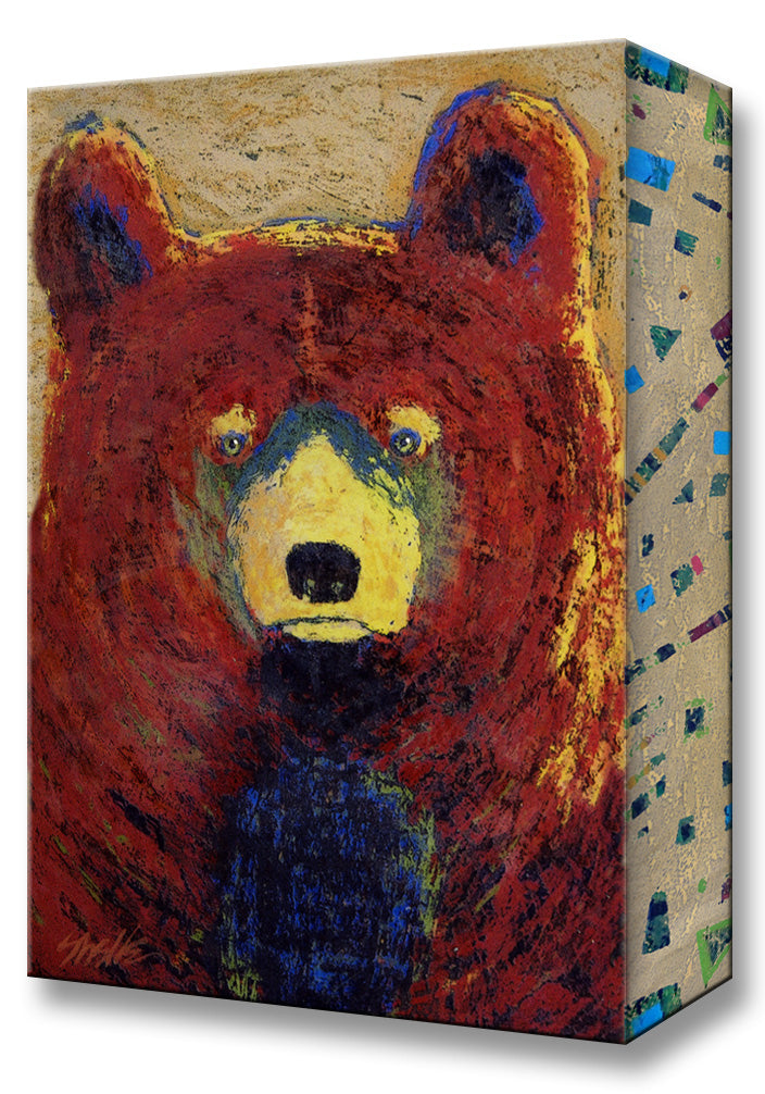 Red Bear:  Metal 18x26 Inches