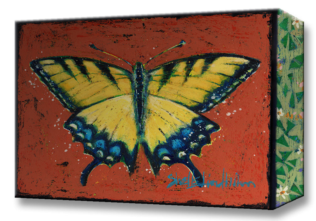 Yellow Swallowtail Butterfly:  Metal 18x26 Inches