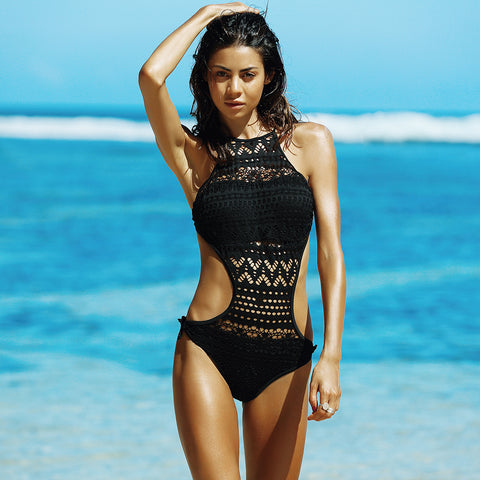 'UNCHARTED WATERS' Full-Body Swimsuit
