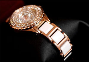 Fancy Crystal Pink Gold Watch
