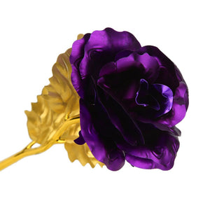 24K Gold Foil Rose With Box