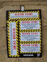 Design Crime - sticker sheet